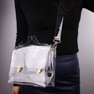 Handbags - Transparent Clear Handbag Tote Shoulder Bag